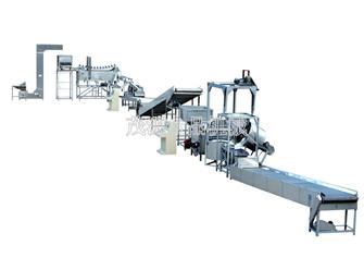 烟台花生米自动油炸生产线