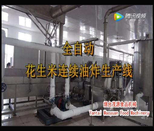 全自動花生米油炸生產線(日照現場)